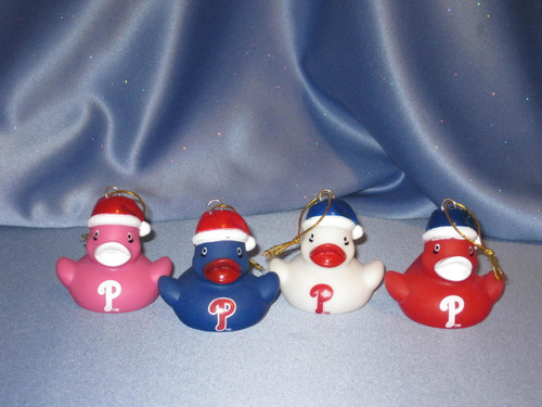 MLB Phillies Duck Ornaments by Forever Collectibles.