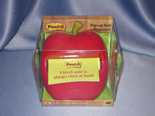 Post-It Red Apple Dispenser for Notes.