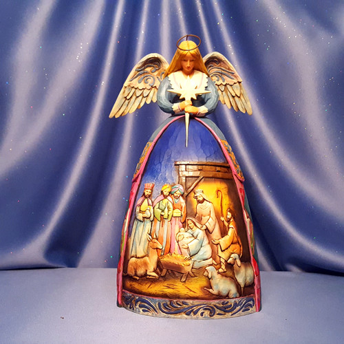 "Jim Shore ""A Star Shall Guide Us"" Angel Nativity Gown Figurine by Enesco."
