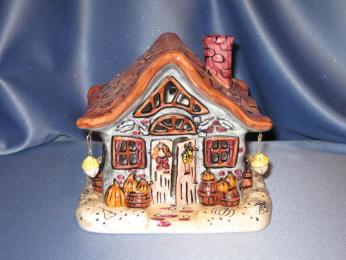 Thanksgiving - Fall Country Home with Votive by Russ Berrie Co.