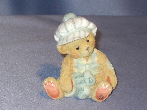"Cherished Teddies - Kevin - ""Good Luck To You"" Figurine W/Box."