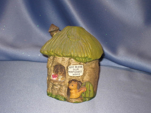 Chipmunk Tree House Coin Bank by Enesco.