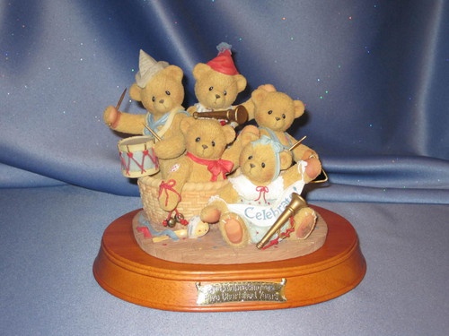 Cherished Teddies - Commemorative 5 Year Anniversary Figurine W/Box by Enesco.