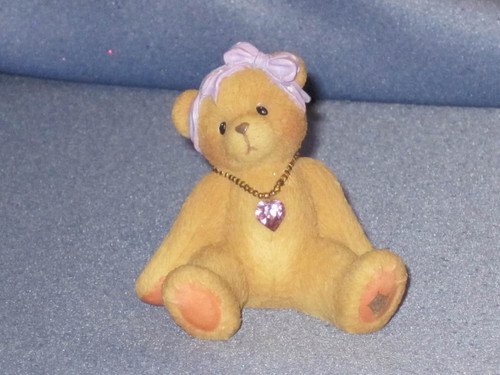 Cherished Teddies Bear with June Birthstone Little Sparkles by Enesco W/Box.