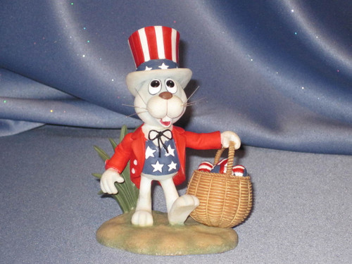Peter Cottontail Rabbit - 4th of July Figurine by Enesco.