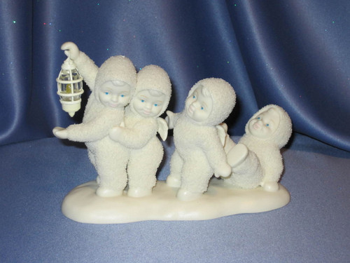 """Snowbabies """"Even a Small Light Shines in the Darkness"""" Figurine."""