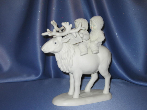 """Snowbabies """"Journey For Two, By Caribou!"""" Figurine."""
