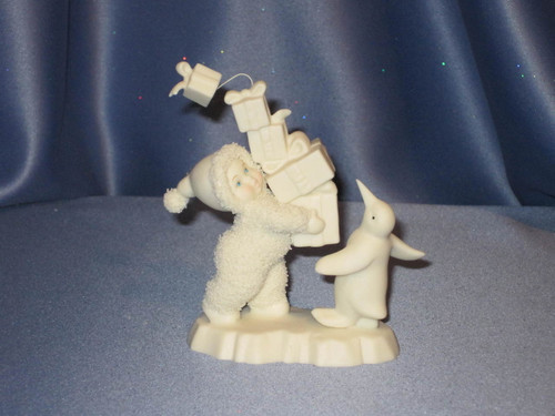 """Snowbabies """"I Have Lots to Give"""" Figurine W/Box."""