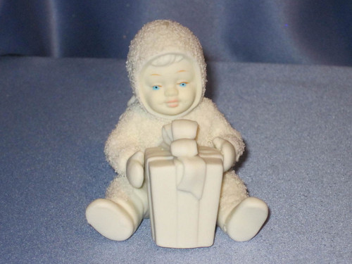 """Snowbabies """"Can I Open It Now""""Figurine W/Box."""