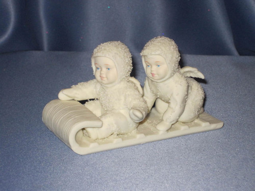 "Snowbabies ""Down The Hill We Go."" Figurine W/Box."
