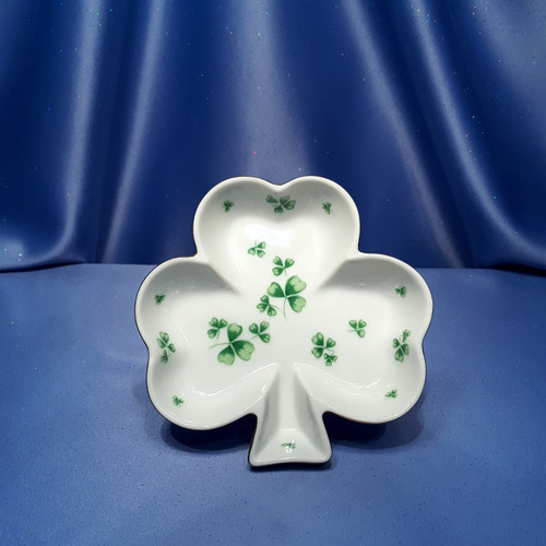 Clover Dish with Gold Trim by Lefton.
