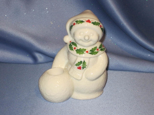 Mrs. Snowman - Tapered Candlestick Holder by Lenox.