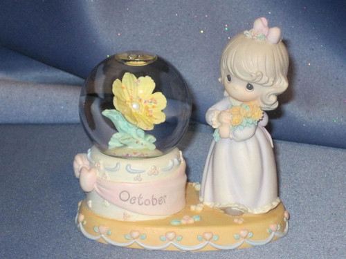 "Precious Moments ""October"" WaterBall Figurine by Enesco W/Comp Box."