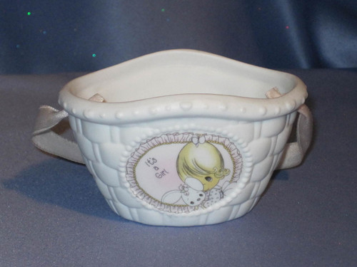 "Precious Moments ""It's a Girl"" Basket by Enesco W/Box."