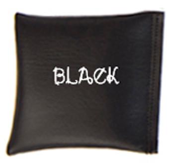 Square Rice Bag in Vinyl - Black