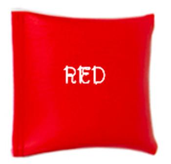 Square Rice Bag in Vinyl - Red