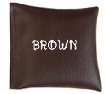 Square Rice Bag in Vinyl - Brown