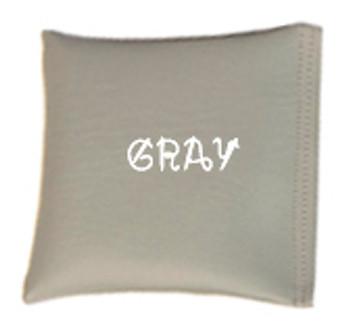 Square Rice Bag in Vinyl - Gray