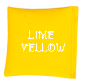 Square Rice Bag in Vinyl - Lime Yellow