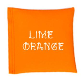 Square Rice Bag in Vinyl - Lime Orange