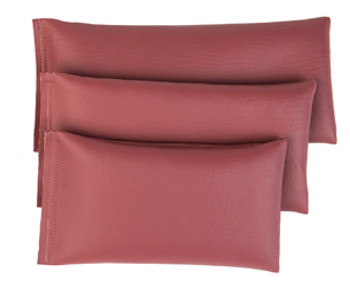 Rectangular Rice Bag with Mauve Vinyl
