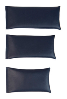 Rectangular Rice Bag with Navy Blue Vinyl