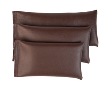 Rectangular Rice Bag with Dark Brown Vinyl