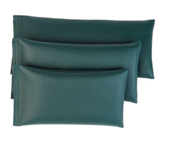 Rectangular Rice Bag with Hunter Green Vinyl