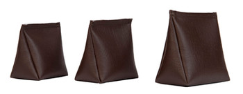 Wedge Rice Bag with Dark Brown Vinyl and Rice