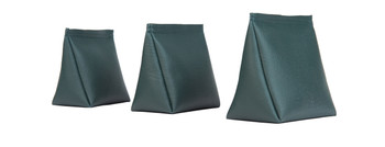 Dark Green Vinyl Wedge Rice Bag