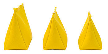 Wedge Rice Bag with Yellow Vinyl and Rice