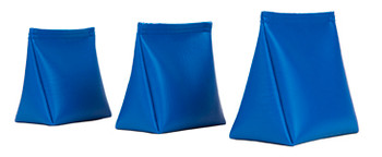 Wedge Rice Bag with Blue Vinyl and Rice