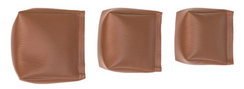 Wedge Rice Bag with Light Brown Vinyl and Rice