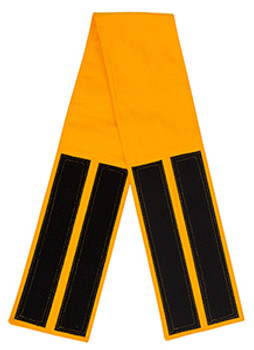 Yellow Velcro Fabric Belt - 5 inches wide