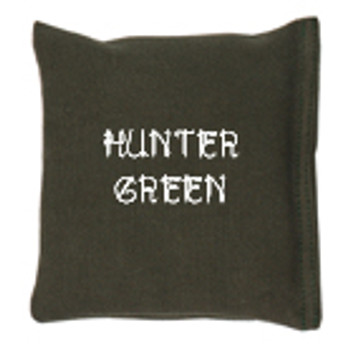 Square Rice Bag in Cotton Fabric - Hunter Green