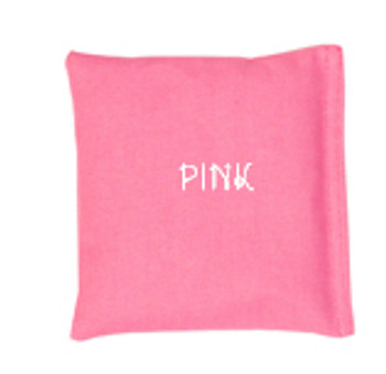 Pink Square Rice Bag in Cotton Fabric