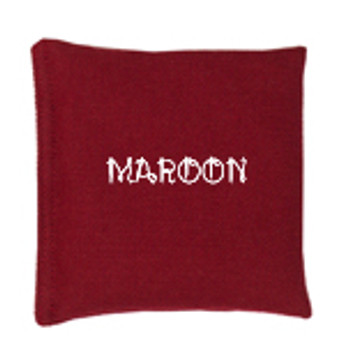 Maroon Square Rice Bag in Cotton Fabric
