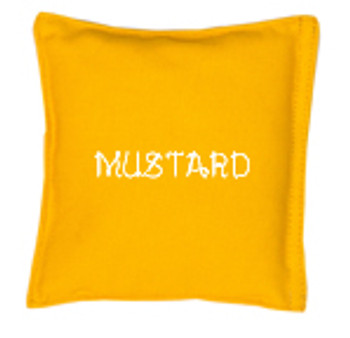 Square Rice Bag in Cotton Fabric - Mustard
