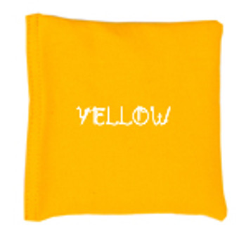 Square Rice Bag in Cotton Fabric - Yellow