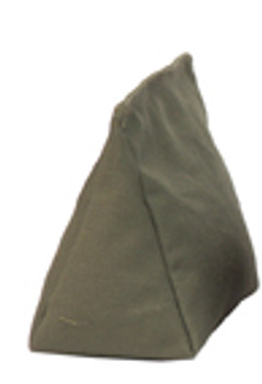 Wedge Rice Bag with Olive Green Cotton and Rice