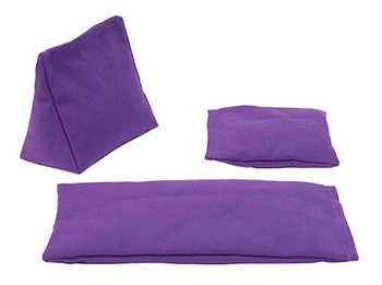 Wedge Rice Bag with Purple Cotton and Rice