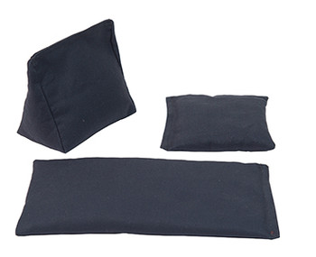 Wedge Rice Bag with Gray Cotton and Rice