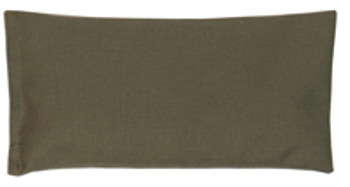 Rectangular Rice Bag with Olive Green Cotton Fabric