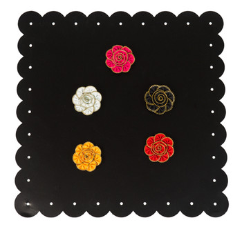 Zipper Flower Magnet/Brooch