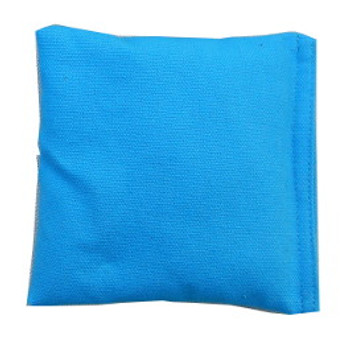 Square Rice Bag with Turquoise Cotton Fabric