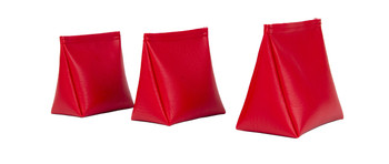 Wedge Rice Bag with Red Vinyl and Rice