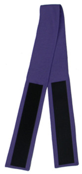 "3"" Velcro Purple in Black (Back View)"