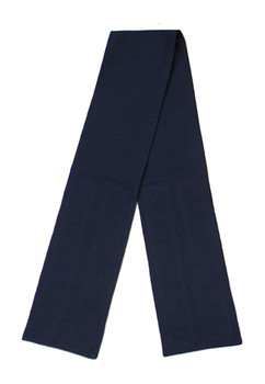 Navy Blue Cotton Fabric Belt with Velcro Closure - Wide