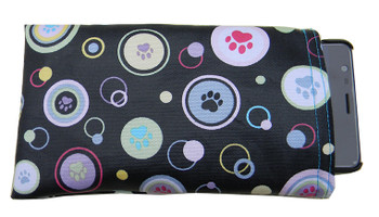 Phone Holder with Dog Paws Print Fabric