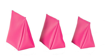 Wedge Rice Bag with Fuchsia Vinyl